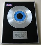 whitney houston - SAVING ALL MY LOVE FOR YOU PLATINUM single presentation Disc